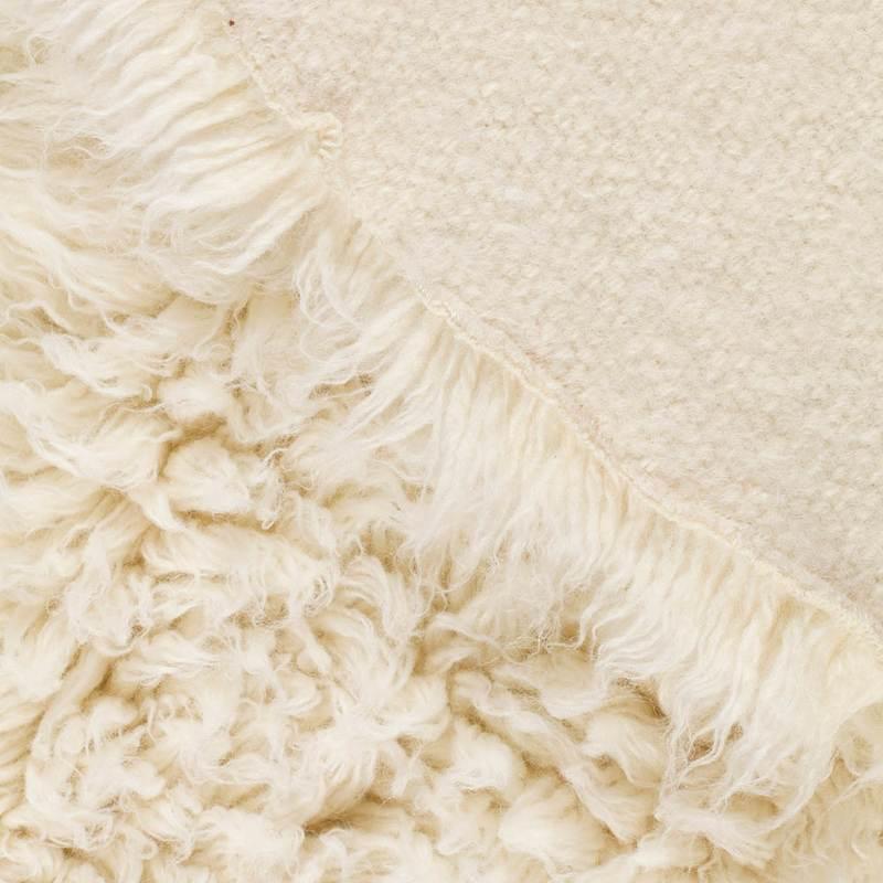 closeup of a flokati rug